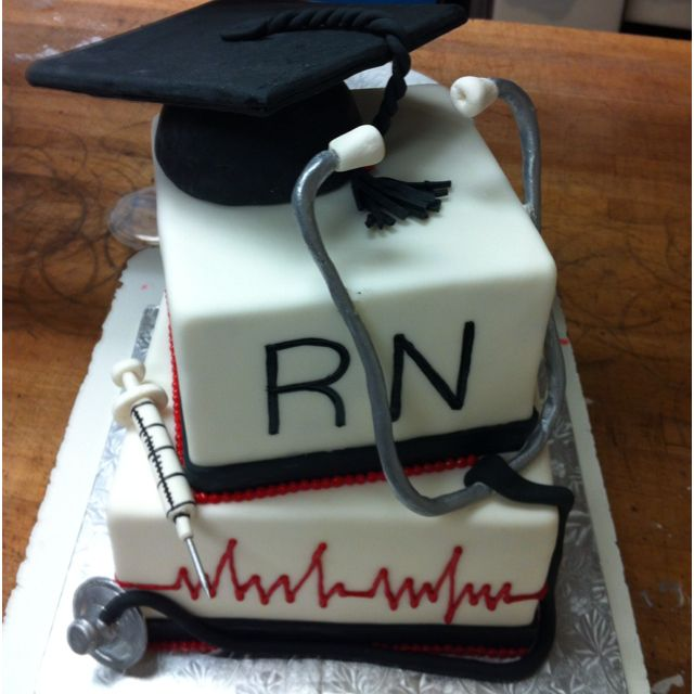 This is the one my daughter wants for her graduation party.  Nursing graduate cake