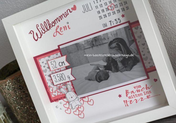 Newborn Baby Rahmen - personalisiertes Geschenk zur Geburt Foto Herz