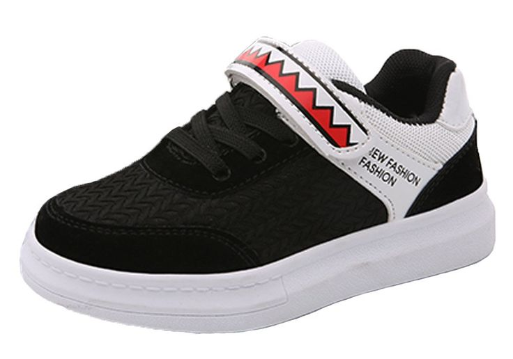 iDuoDuo Kids Fashion School Comfortable Basketball Board Shoes Running Shoes Sneakers Black 4 M US Big Kid. Unisex kids running shoes with hook-and-loop closure, easy to pull on and off by themselves. Featuring fashion contrast color design with breathable and wear-resistant mesh material. Reinforced stitching, thickened leather toe and back design provide kids more protection. Breathable and comfortable mesh and cotton lining brings kids better wearing experience. Natural anti-slip…