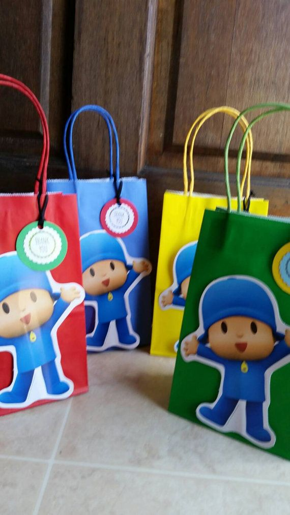 Pocoyo Party Favor Bags. 12 pieces por JennexPartySupply en Etsy