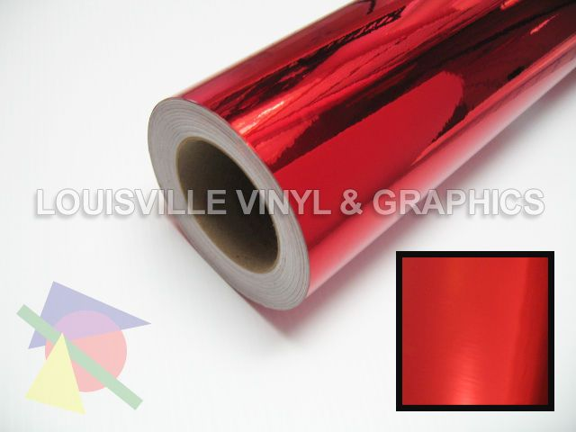 """24"""" Wide Red Chrome Polished -*LVG InterCal*- Sign & Graphic Vinyl Film"""