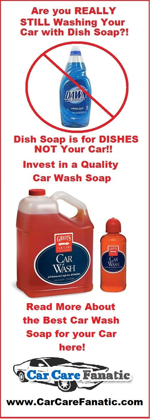 Don't wash your car with dish soap!  Check out the best car wash soaps for your car now!
