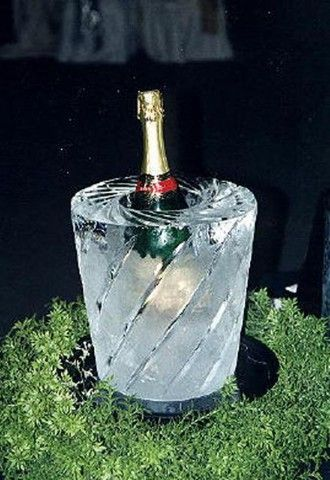 ice bucket made of ice