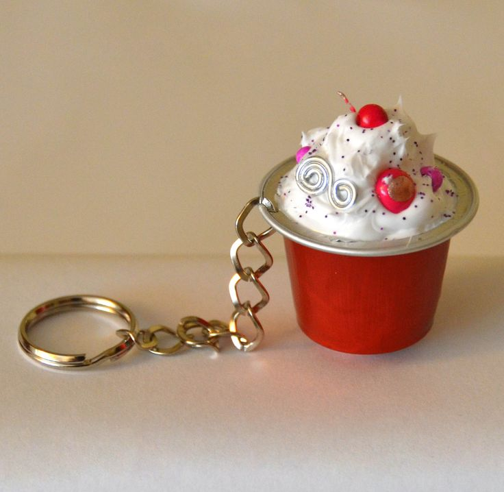Mini cupcake from Nespresso. Great for ornaments!