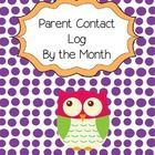 These Monthly Parent Contact sheets make it easy to keep track of your conversations with parents. Just print them off and include them in your tea...