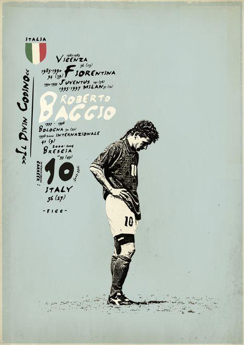 Roberto Baggio, muchos recuerdan esa imagen de este gran jugador. By Zoran Lucic