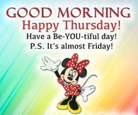 Colorful Good Morning Minnie Mouse Quote