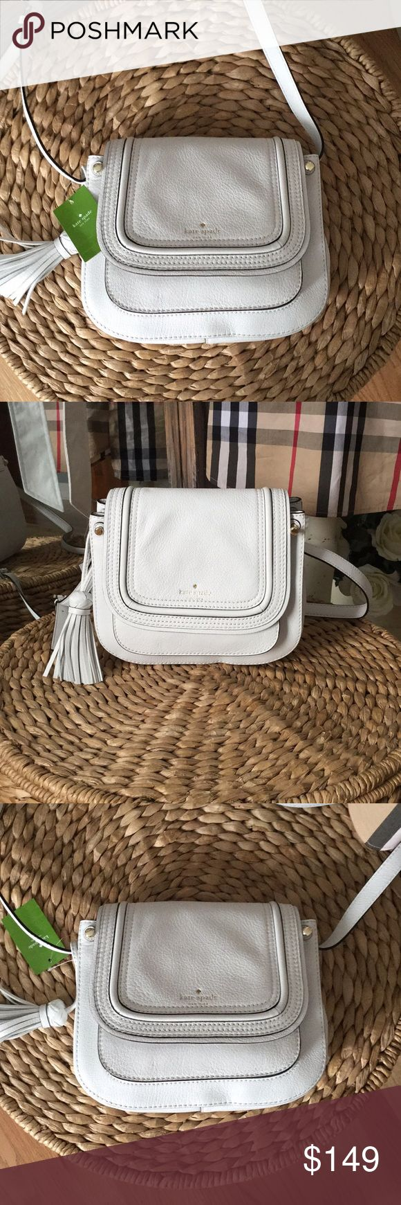 SALE, firm lowest price!!! Kate Spade leather bag Final price. This is a gorgeous soft leather bag from Kate Spade. This bag is the perfect size not too large and not top small with useful  pockets inside. White is predicted to be a hot trend in 2018. Will look gorgeous with just about anything kate spade Bags Crossbody Bags