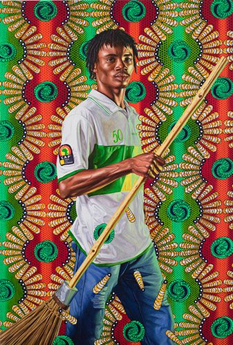 Kehinde Wiley – Benin Mother and Child – 2008 Peinture à l'huile – 182 cm x 152cm En découvrant le travail de l'artiste américain Kehinde Wiley, j'ai été à la fo…