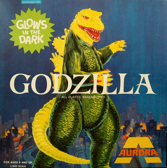 Vintage Godzilla Model Kit, by Aurora. Here it is gang...one of the HOLY GRAILS of model collecting: the SUPER-RARE Aurora Godzilla kit...UNBUILT, MINT CONDITION, PARTS STILL ON TREES, TERRIFIC BOX. I mean, this looks as if it was still on the shelf at your local Hobby Shop, and it's still 1972. Open the window and look around ...it isn't. It's over 40 years later. Only one in stock. $975.00