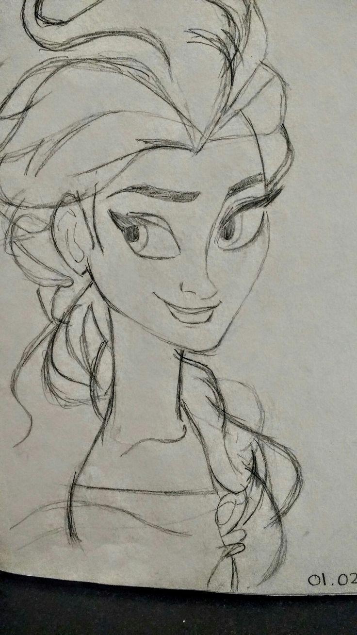 Elsa - Free Hand Sketch  By: Anima Armah