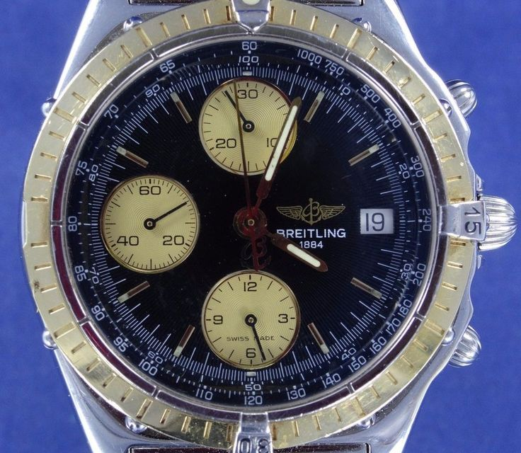 BREITLING 1884 Chronograph SS & 18k Gold Mens Watch (T469) #Breitling #LuxuryDressStyles