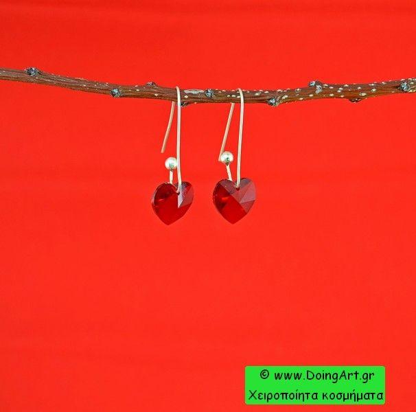 """Σκουλαρίκια Swarovski """"Καρδιά"""""""