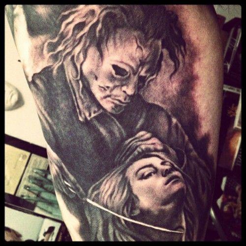 99 best horror tattoos images on pinterest horror films for Michael myers tattoo