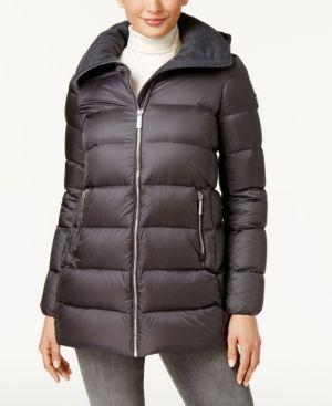 Michael Michael Kors Down Puffer Coat - Gray XXL