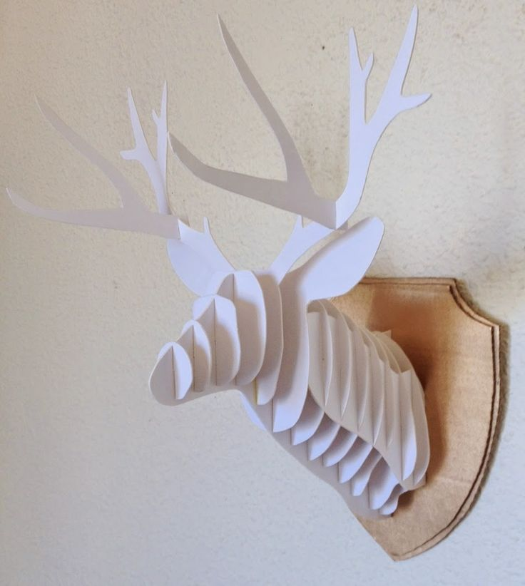 70 best images about animal 39 s head on pinterest hanging decorations wall mount and taxidermy - Cabeza ciervo carton ...