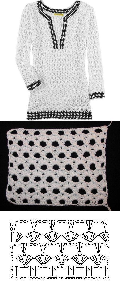 Letras e Artes da Lalá: Blusas de crochê - COM receirtas (fotos: pinterest)