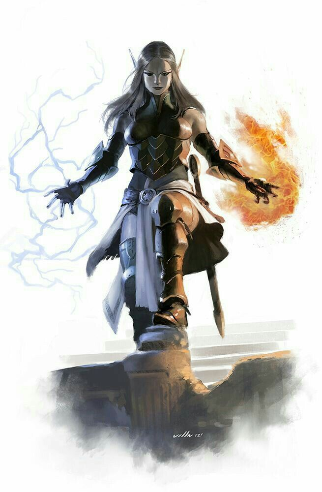 Female Elf Wizard - Pathfinder PFRPG DND D&D d20 fantasy
