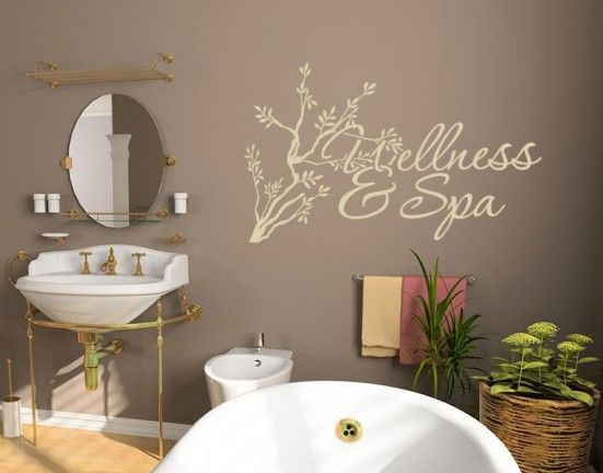 Spa Wall Art 54 best spa & bathroom decals images on pinterest | spa bathrooms