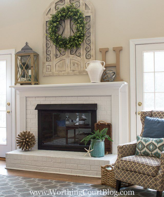 Dated Fireplace Makeover Amazing Transformation On