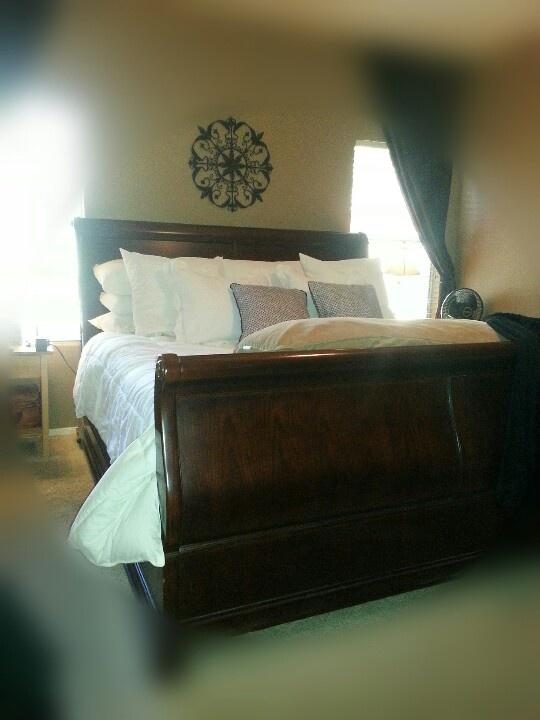 Sleigh Bed Bed Room Pinterest Bedroom Retreat