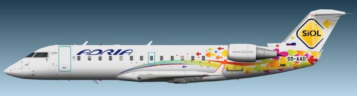"""Adria Airways """"SiOL"""" (S5-AAD) Bombardier CRJ-200"""