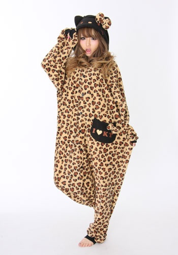 Kigurumi Costume - Hello Kitty Leopard ...