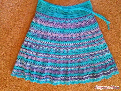 crochet skirt pattern More