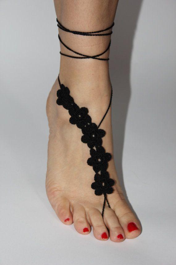 Pies descalzos sandalias joyería de los pies zapatos por craftbyaga