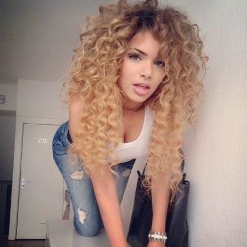 32 best weave images on pinterest braids hairstyles and curly l3ve these natural curly locks grab our full head clip in human hair pmusecretfo Gallery