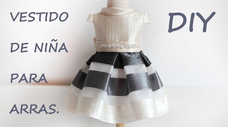Vestido de niña para arras. Costura diy para bodas y eventos.