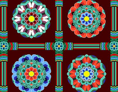 """Check out new work on my @Behance portfolio: """"Korean Traditional Pattern Design [단청]"""" http://be.net/gallery/32543565/Korean-Traditional-Pattern-Design-"""