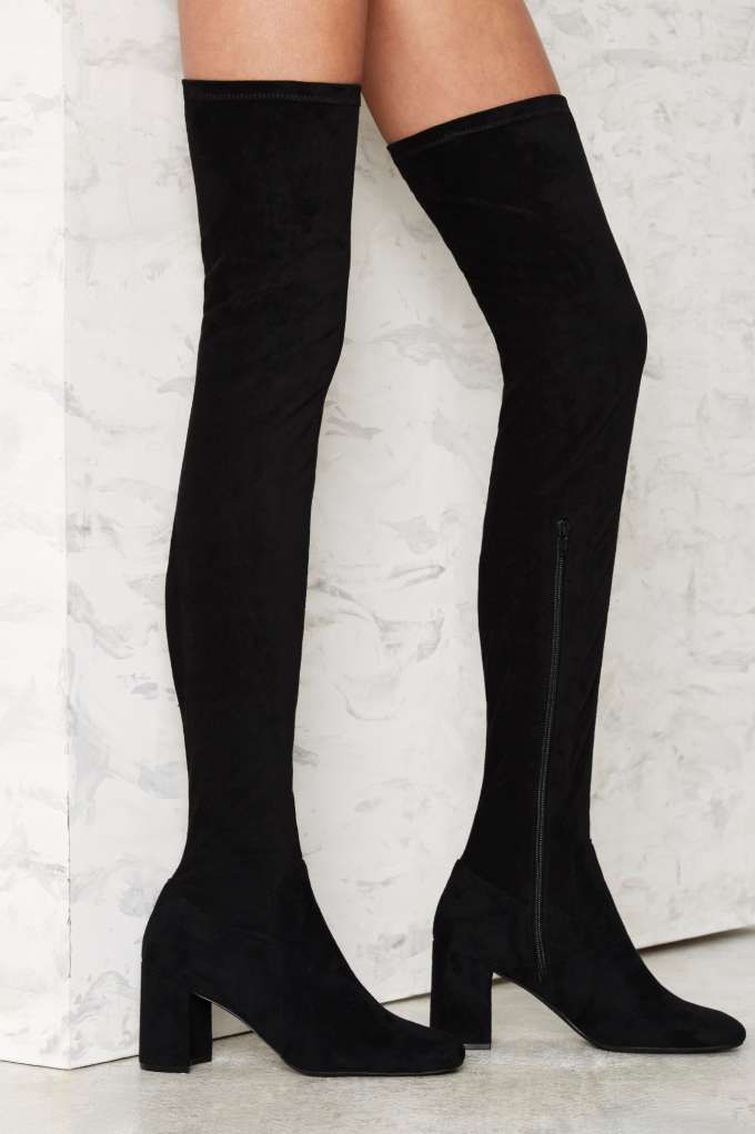 Jeffrey Campbell Cienega Over-the-Knee Suede Boot - Boots + Booties | Back In Stock | Back In Stock