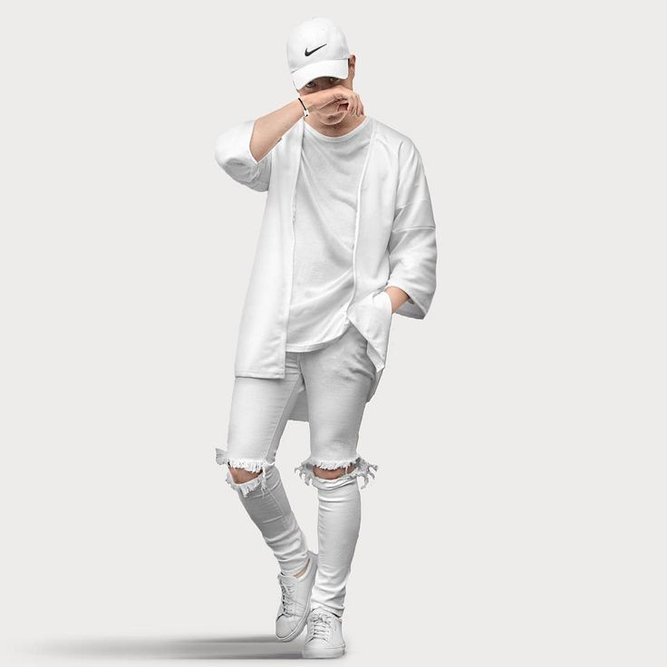 all white hype  all white mens outfit mens outfits mens