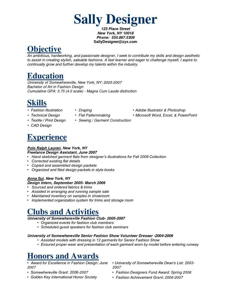 Fashion Stylist Resume Objectivecareer Resume Template Career Resume Template Fashion Designer Resume Fashion Stylist Resume Resume Objective Examples