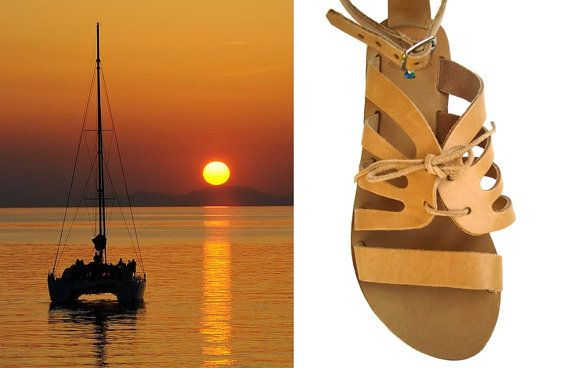 Greek sandals Leather sandals Greek leather sandals by OhSoGreek