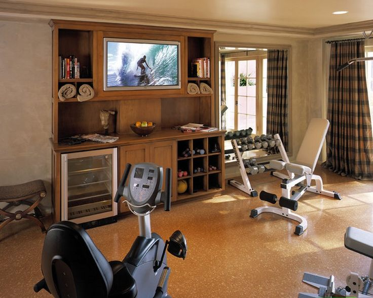 Home gym equipment layout