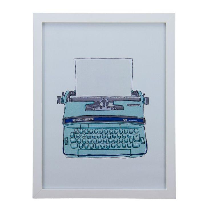 Quadro Retrô Máquina de Escrever