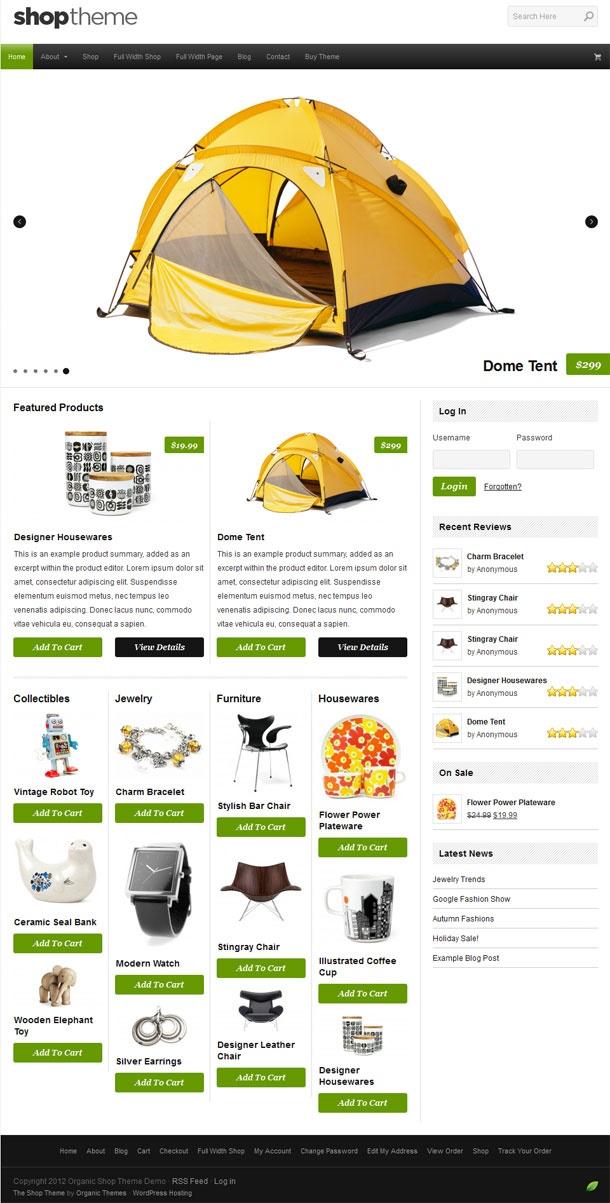 Shop WordPress Theme