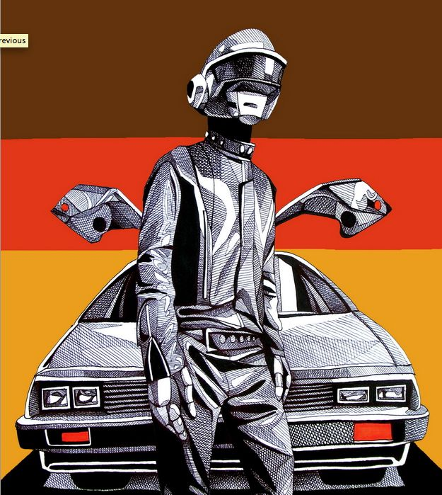 "Radical DAFT PUNK Inspired Art for ""ReDiscovery"" Art Show - News - GeekTyrant"