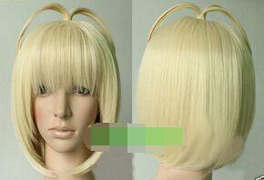 Кк 004453 Потому Ао нет Изгоняющий Дьявола Короткие Прямые Бледная Блондинка Термостойкие Парики