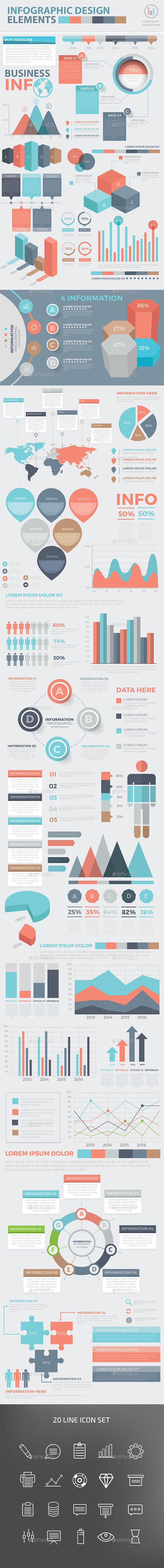 Modern Infographic elements design — Vector EPS #project #options • Available here → https://graphicriver.net/item/modern-infographic-elements-design/16723876?ref=pxcr