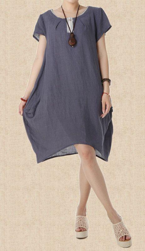 Breathed air/ linen princess dress women Maxi Dress