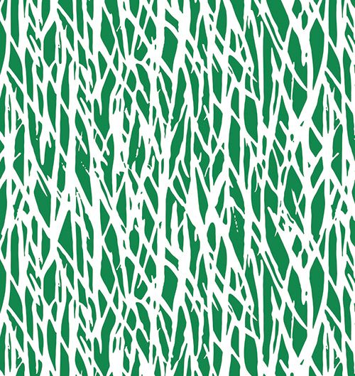 Green Twiggs Print - a signature print of DVF - featured in the #PopWrap Limited Edition Collection