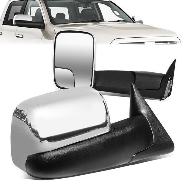 94 02 Dodge Ram 1500 2500 3500 Manual Adjustment Towing Mirrors Chrome Cover In 2021 Towing Mirrors Dodge Ram Dodge Ram 1500