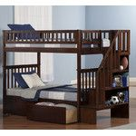 <strong>Woodland Twin Bunk Bed with Storage</strong> by Atlantic Furniture