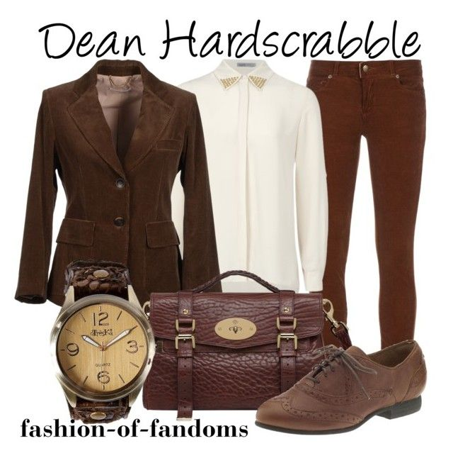 """""""Dean Hardscrabble"""" by fofandoms ❤ liked on Polyvore featuring Paige Denim, Soaked in Luxury, Gold Case, Mulberry, Indigo by Clarks and Treska"""