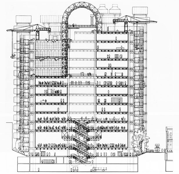 Richard Rogers 2007 Laureate, Lloyd's of London, London, United Kingdom, 1986