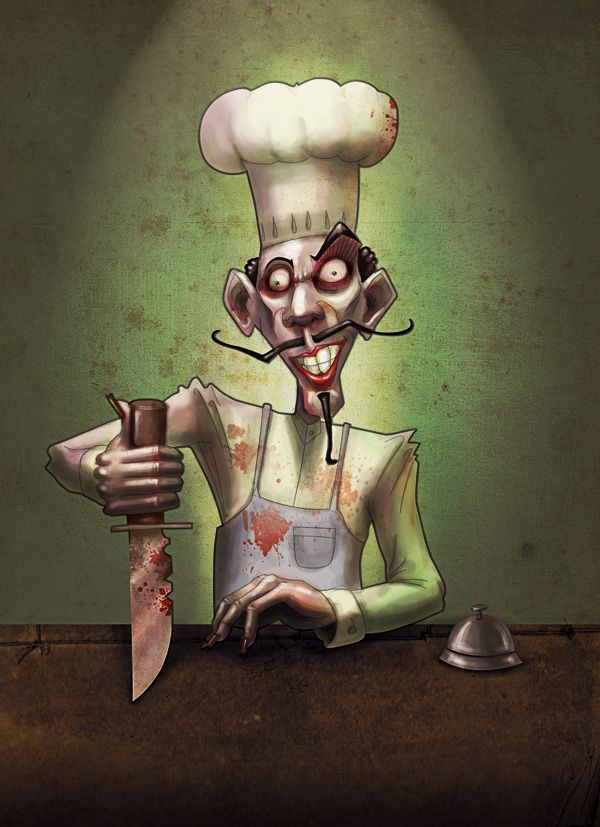 Cook by Guillermo Vaccarezza, via Behance