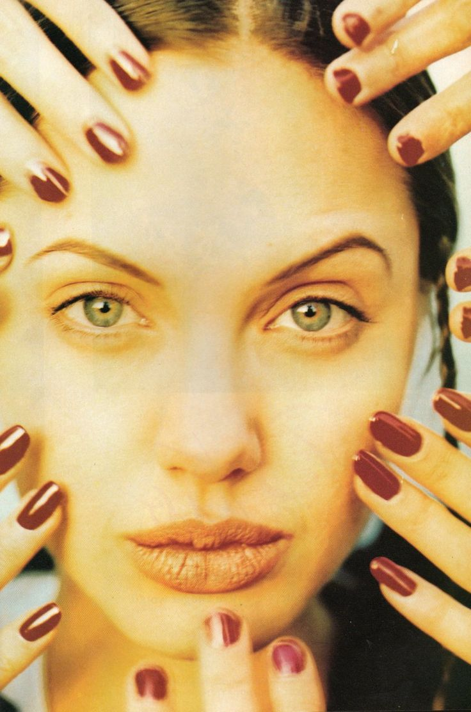 Angelina Jolie modelling in Sassy, 1993